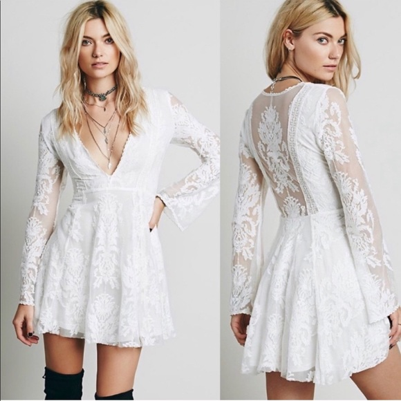 Free People Dresses & Skirts - Free People Lace Mesh Reign Over Me Dress